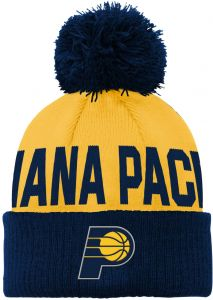 135fade0eaf07 Outerstuff NBA Indiana Pacers Children Boys Cuffed Knit with Pom Hat
