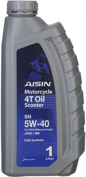Aisin 5W-40SN Fully Synthetic Motorcycle 4T Scooter Oil - 1 Liter