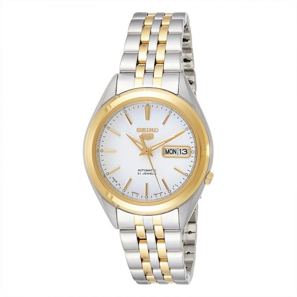 9626c9b77387 Seiko 5 Men s White Dial Stainless Steel Automatic Watch - SNKL24J1 ...