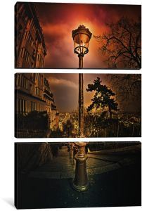 iCanvasART 3-Piece Reverbere Canvas Print by Sebastien Lory 1.5 x 40 x 60-Inch