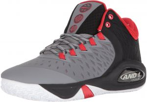 low priced ee154 a68bb AND1 Men s Attack Mid Basketball Shoe, December Sky Black Fiery Red, 7.5 M  US