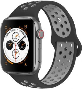 6b44c1bb818 EWORLD Compatible for Apple Watch Bands 38mm 40mm ,Soft Silicone  Replacement Wristband &, Sport design Compatible for iWatch Apple Watch  Series 1/2/3/4 ...