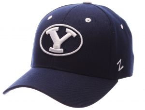 buy online 24fcf 55e41 ZHATS NCAA BYU Cougars Men s DH Fitted Cap, Navy, Size 7 3 8