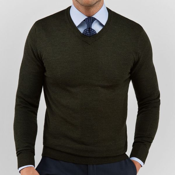 John Henric Sweater Green Merino
