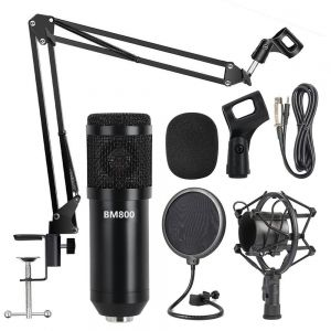 12a4bcd48 Professional Metal Studio Condenser Microphone Kit BM800 with Pop  Filter/Scissor Arm Stand/Shock Mount for Studio Recording Podcasting  Broadcasting