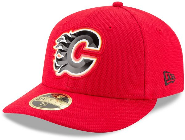 9766f39c357 New Era NHL Calgary Flames Adult Bevel Team Low Profile 59FIFTY ...
