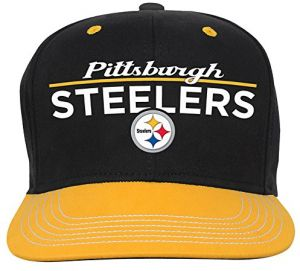best loved d5f40 8c6aa NFL Youth Boys Retro Bar Script Flatbrim Snapback Hat-Black-1 Size,  Pittsburgh Steelers