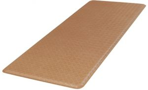 Gelpro Classic Anti Fatigue Kitchen Comfort Chef Floor Mat 20x48 Basketweave Khaki Stain Resistant Surface With 1 2 Gel Core For Health And