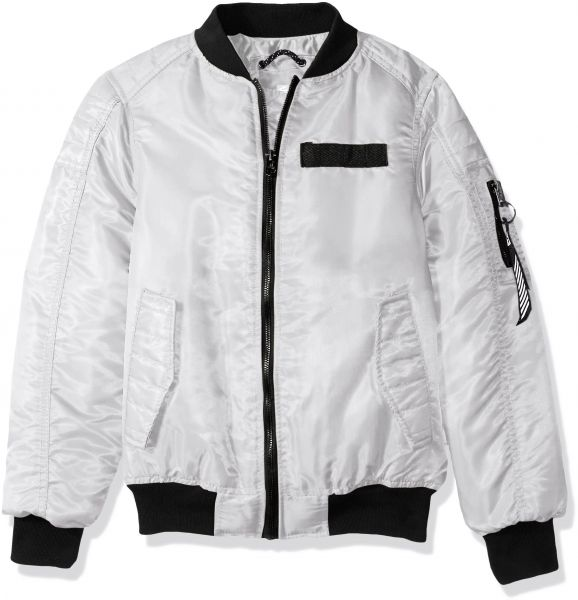 Southpole Boys Big Ma-1 Bomber Flight Jacket with Biker Detail