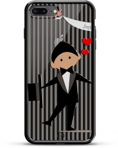 136831577a60 Luxendary Just Married Groom Design Chrome Series Case for iPhone 7 Plus -  Titanium Black