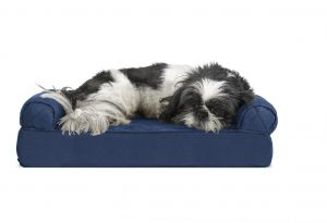 Excellent Furhaven Pet Dog Bed Cooling Gel Memory Foam Orthopedic Quilted Sofa Style Couch Pet Bed For Dogs Cats Navy Small Bralicious Painted Fabric Chair Ideas Braliciousco