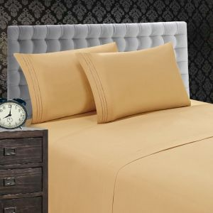 1500 TC 4 PIECE BED SHEET SET CHOCOLATE BROWN COLOR FULL QUEEN KING DEEP POCKET