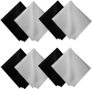 8-Pack Microfiber Cleaning Cloths For Glasses Camera Lens Computer Phone Screen