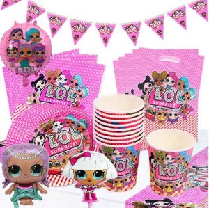 Lol Surprise Doll Nine Sets Of Cartoon Disposable Paper Cup Paper