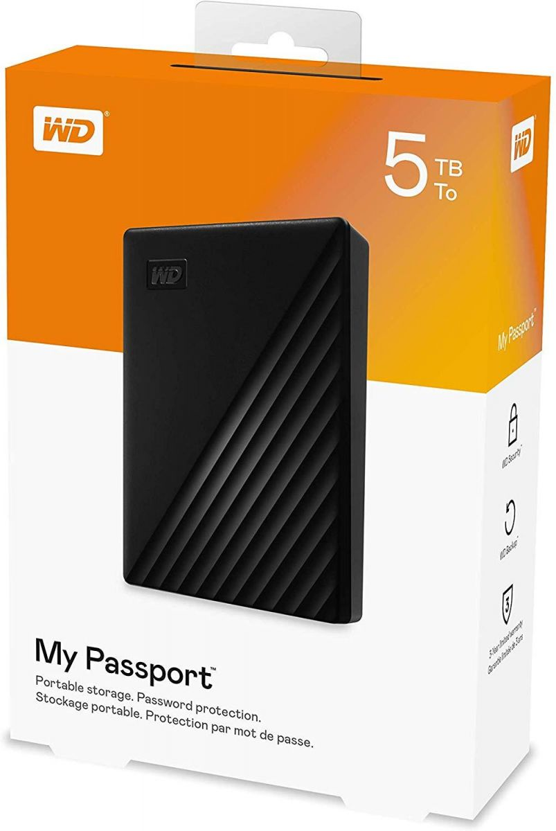 WD 5TB My Passport Portable External Hard Drive