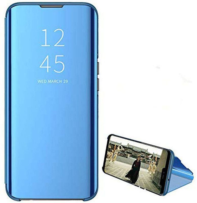 Clear View Standing mirror With Out Sensor Not Smart For Huawei Y9s - Blue