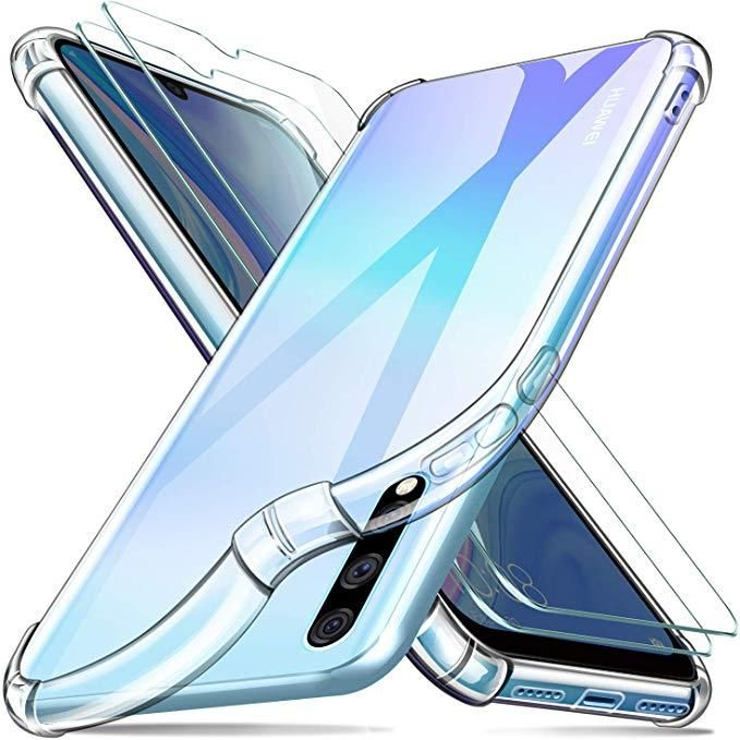 back clear cover with bumper For huawei y9s with clear screen (defender)