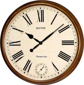 Rhythm Wall Clock CMH721CR06 BrownBeige price review and buy