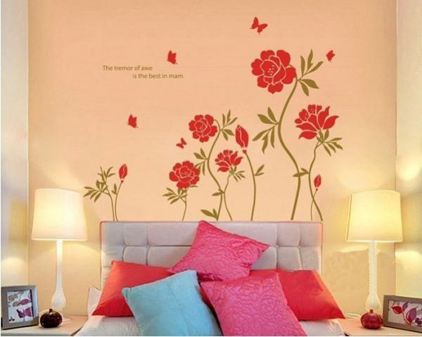 Miihome Removable Wall Decor Sticker - Red Flower price, review and ...