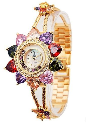 chain brand wristwatch ladies watch women crystal gold geneva pearl bracelet dress fancy views female more watches
