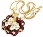 Pearl necklace and earring set gold-plated (Necklace)