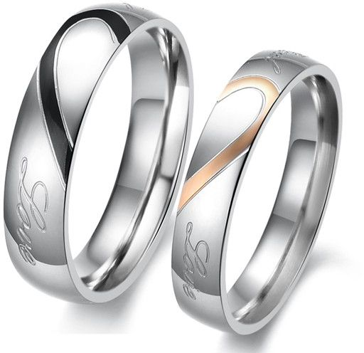 Buy Sterling Silver Real Love Couple Rings Set Rings UAE