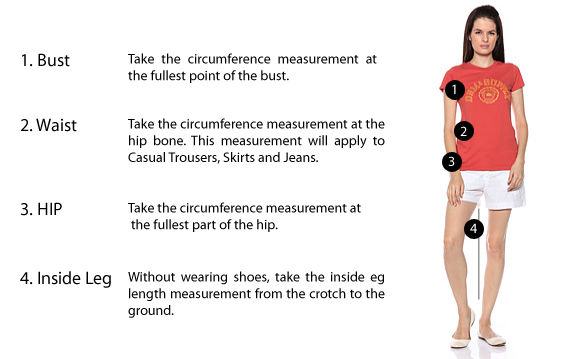 Clothing Size Charts & Measurement Guide For Women, Men & Children ...